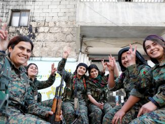 Kurdish women fighters in Syria