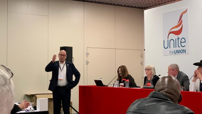 Unite AGS Steve Turner speaks at GPM & IT conference
