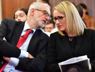 Rebecca Long-Bailey and Jeremy Corbyn
