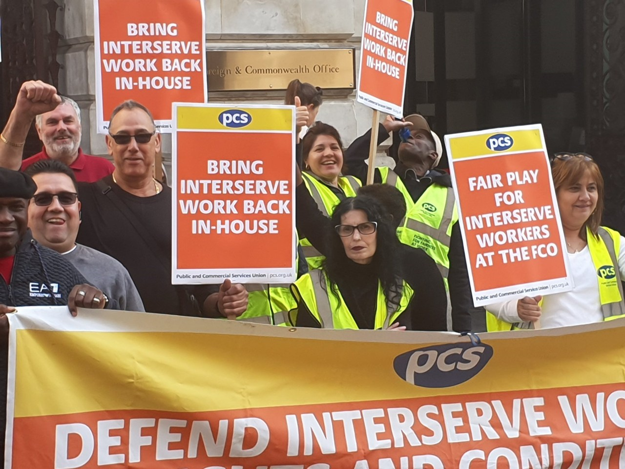 PCS Interserve strikers