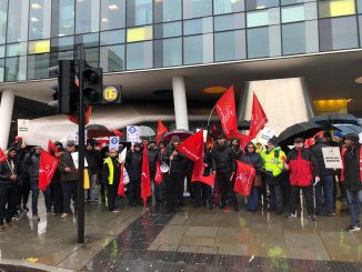 Unite picket line outside TFL