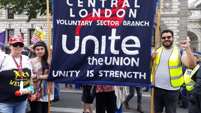 Central London voluntary sector branch banner