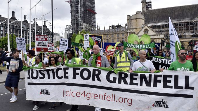 FBU march for Grenfell