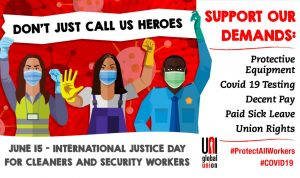 Justice for cleaners, security workers
