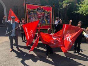 Unite banner at Sean's funeral