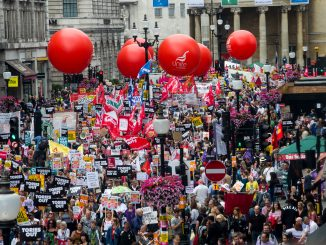 Unite on austerity march