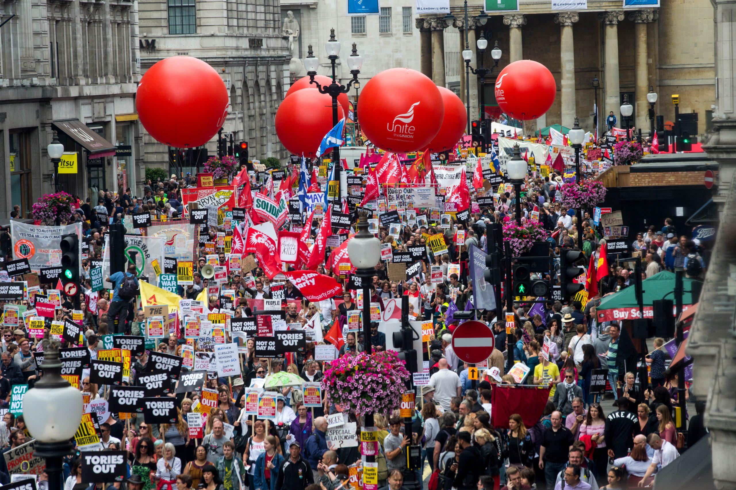 Unite on austerity march