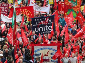 Unite marches on May Day