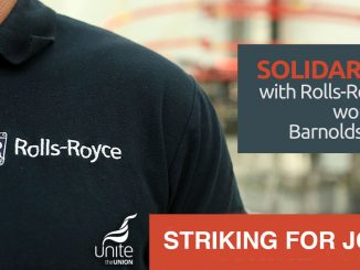 Rolls Royce striking for jobs