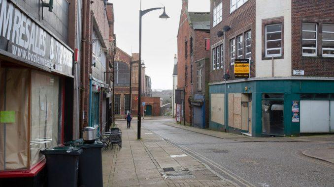 Deserted high street