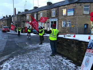 Rolls Royce picket line