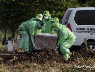 Coronavirus burial in Indonesia