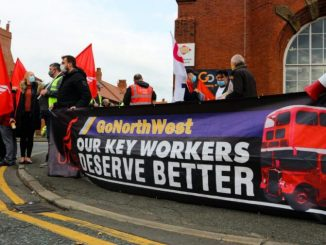 Manchester bus drivers on strike