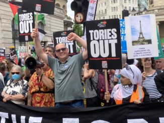 Steve Turners on People's Assembly march